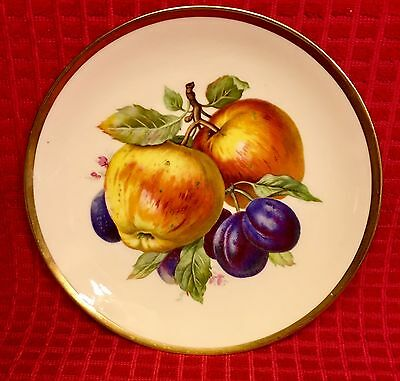 Mitterteich Bavaria Germany Fruit & Gold Cabinet Plate (B)