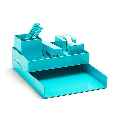 Poppin All Set! 12-Piece Desk Collection, Aqua