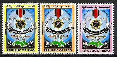 Iraq Irak 1981  Day Of The Martyr Official Sc# O339A - O339C Mnh