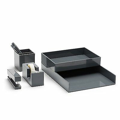 Poppin All Set! 12-Piece Desk Collection, Grey