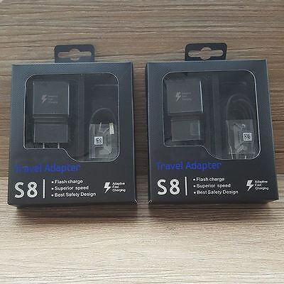 Original Adaptive Fast Rapid Wall Charger For Samsung Galaxy Type-C Phone S8 A7