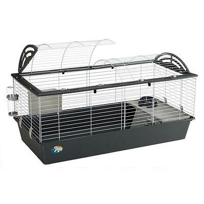 Pet Rabbit And GUINEA PIG Large Cage Home House With ACCESSORIES 2-Part Roof New