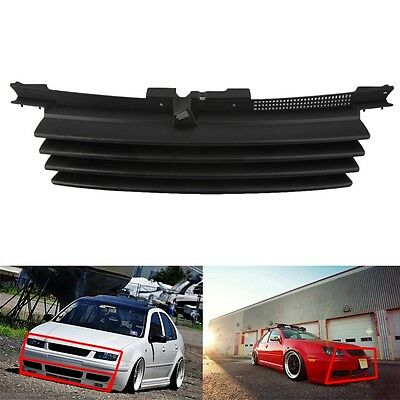 Euro Front Hood Badgeless Grill W/ Notch Filler for VW Jetta Bora MK4 99-04 WP