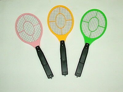 Electric Fly Insect Swatter Swat Bug Mosquito Wasp Zapper Killer Electronic