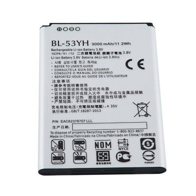Safe 3000mAh BL-53YH Li-ion Battery For LG G3 G 3 VS985 F400 D850 D855 D830 WP