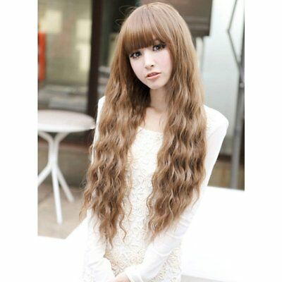 Beauty Fashion Womens Lady Long Curly Wavy Hair Full Wigs Cosplay Party Hot  WP