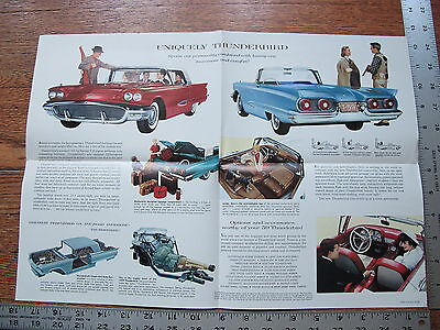 Original 1959 59 Ford Thunderbird & Convertible Dealer Advertising Sale Brochure
