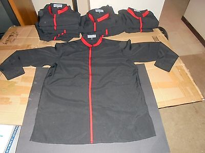 12 NEW mix DOC & AMELIA server SHIRT lot ASIAN restaurant EMPLOYEE uniform BLACK