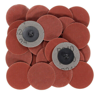 25Pcs 2'' 240 Grit Roloc Cleaning Conditioning Roll Lock Surface Sanding Discs