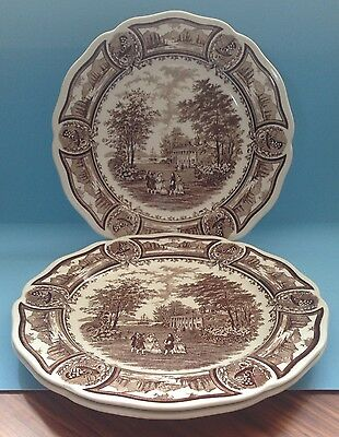 "Superb Set Of Three J & G Meakin Americana 10.5"" Dinner Plates - Nice!"