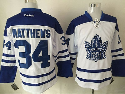 Toronto Maple Leafs Men's Hockey Jersey M to 3XL 34 Matthews 16 Marner
