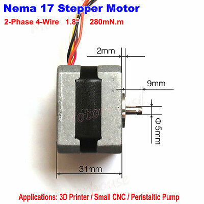 DC 12V-24V Stepper motor Nema17  pulley for RepRap CNC Prusa Rostock 3D printer