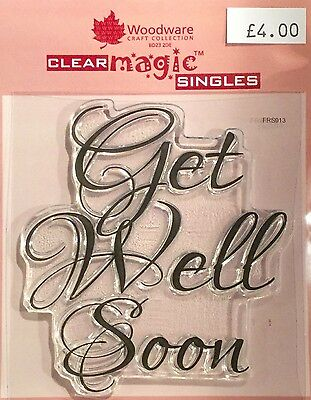 Woodware Clear Magic Get Well Soon stamp - FRS013