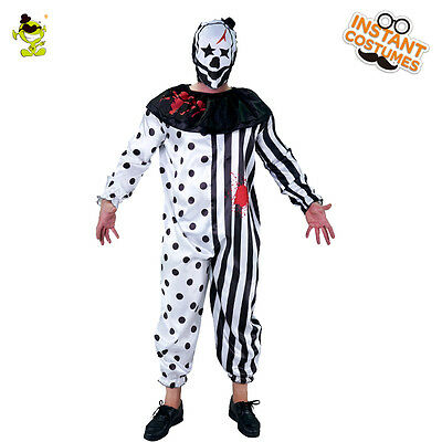 Horror Killer Clown Psycho Costume Halloween Party Cosplay Clown Clothes For Man