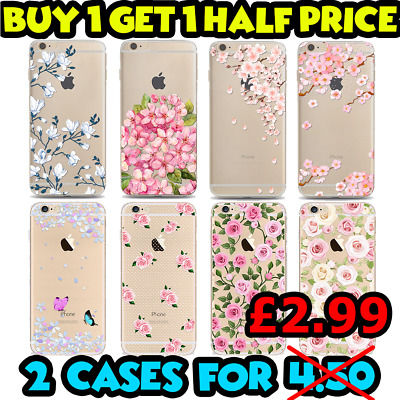 Pretty Floral Roses Flowers Vintage Retro Case Hard Cover Fits iPhones