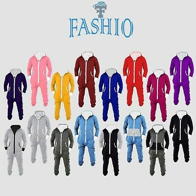 SkylineWears Mens Jumpsuit One Piece Pajamas Non footed Pajama Fleece Jumpsuits