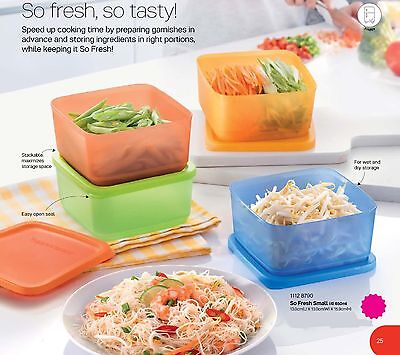 New Tupperware so fresh small (4) 650ml modular stackable