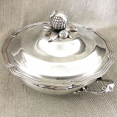 Antique French Silver Plated Tureen Lidded Serving Bowl by J Noe Paris France