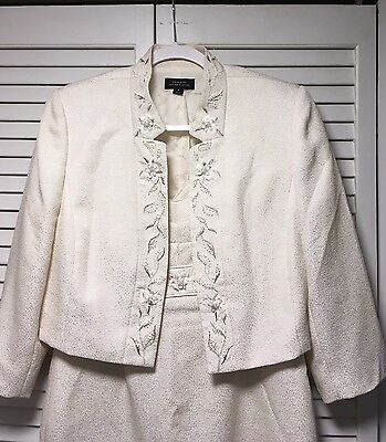 Tahari Arthur S. Levine Dress Suit for Wedding / Bride - Sequined & Embroidered