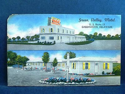 Postcard DE Greenwood Green Valley Motel