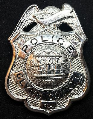 VINTAGE OBSOLETE POLICE GLYNN COUNTY GEORGIA Collector's Police Badge
