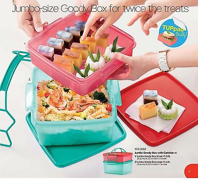 New Tupperware jumbo goody box with cariolier (2) 2L + 4L