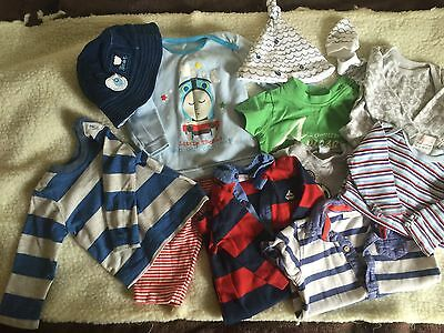 Pre-loved/0-3 Month/boys Clothes Bundle/ Baby grows/tops B1
