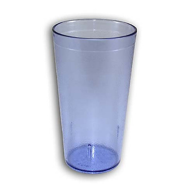 16OZ BLUE 6PK Restaurant Break Resistant Drinking Glass Cups PLASTIC TUMBLER NEW