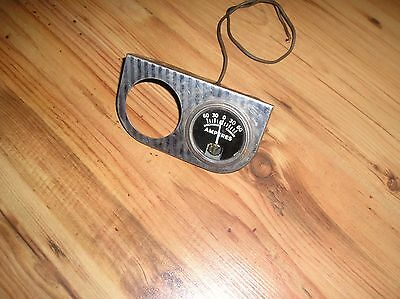 Vintage Guage with Holder 60 Amperes Meter Auto Boat Ratrod Steampunk