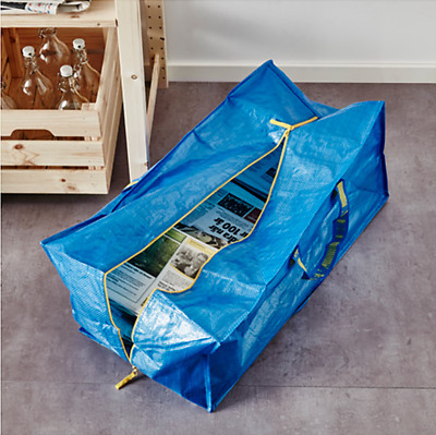 IKEA FRAKTA 20 Gallon Zippered Bag Storage Shopping Travel Laundry Tote Bags