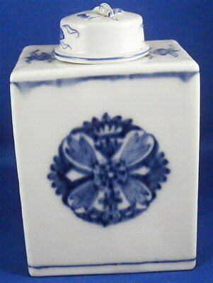 Rare Mid 18thC Meissen Porcelain Tea Caddy / Jar Porzellan Teedose Asian Design