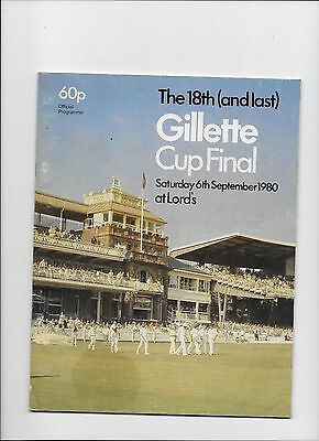 1980 GILLETTE CUP FInal Surrey v Middlesex @ Lord's