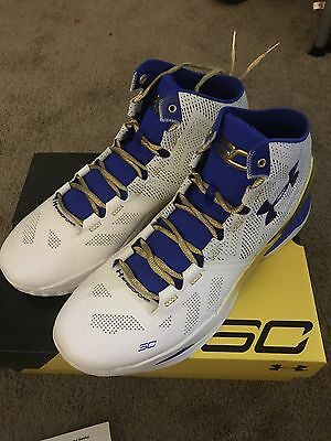 bd28368061f NEW DS UNDER Armour Stephen Curry 2 Gold Rings Authentic size 14 ...