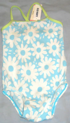 New OLD NAVY Size 6-12 Months Blue Floral One-Piece UPF 50 Swimsuit