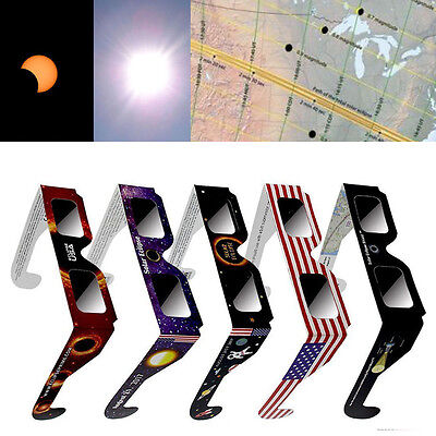 Solar Eclipse Glasses  2017 US Galaxy Edition CE & ISO Standard View