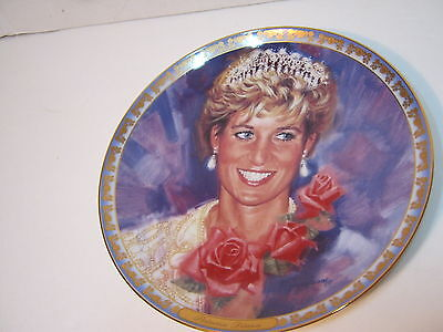 Princess Diana collector  plate 'ENGLAND'S ROSE' 8 inches 1997 year