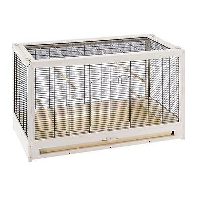 Solid Wood Bird Cage SPACIOUS HOME Small Breed Flying Pets Budgies Canary PERCH