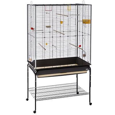 LARGE Spacious Bird Aviary Pet Cage Haven SMALL BIRDS Canary Parrots With Stands
