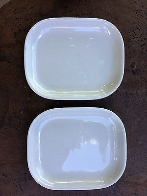 "Homer Laughlin Baxter Side Plate Made In Usa Euc 5.25"" X 4.5"" Pair Of 2"