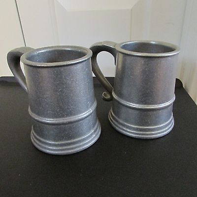 """Set of 2 Pewter Mugs, Cambridge Colonial Collection, 5"""" tall"""