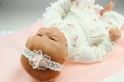 Silicone SanyDoll Reborn Baby Doll Soft 22inch Newborn REAL Dolls Vinyl NEW Full