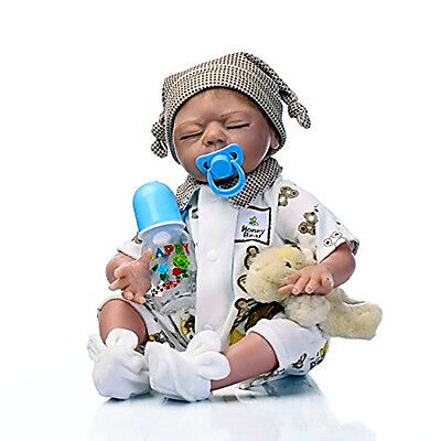 Reborn Baby REAL Doll Soft Silicone Vinyl 22inch Full Magnetic Mouth Lifelike