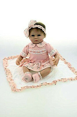 Silicone Reborn Baby Doll Soft 18inch Realistic Full Handmade Body Clothed NEW