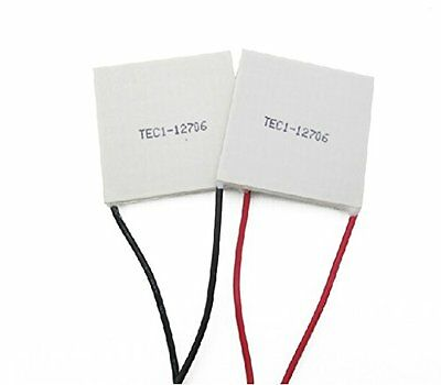 DAOKI 2PCS TEC1-12706 12V 60W Heatsink Thermoelectric Cooler Cooling Peltier...