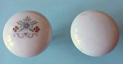 Vintage, Antique White Porcelain & Brass Door Knobs Set from an old Victorian