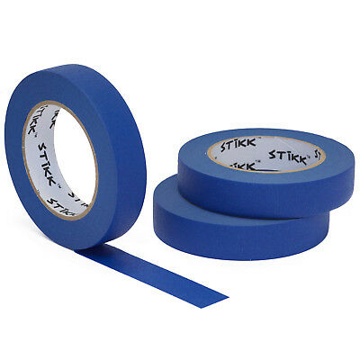 "3pk 1"" inch x 60yd STIKK Blue Painters Masking Tape 14 Day Clean Release"