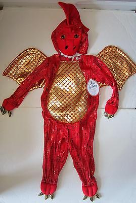Pottery Barn Kids red Baby Dragon Costume 6-12 or 12-24 months