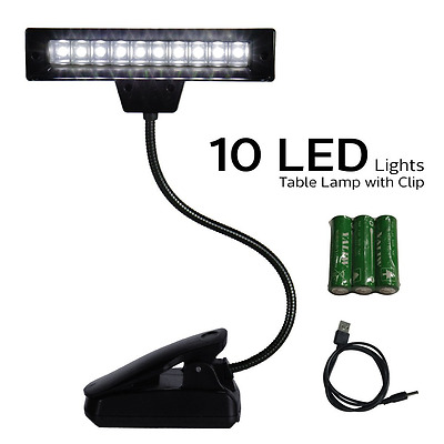 LED Super Bright Lamp With Clip On Grip, Desk Travel Light, Reading, Attachment