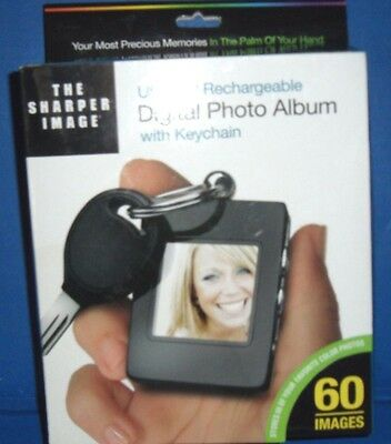 Sharper Image Usb 2.0 Digital Photo Album With Keychain--60 Images
