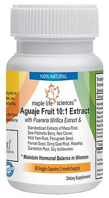 Aguaje Extract, Pueraria Mirifica, Maca, Saw Palmetto, Red Clover, Wild Yam